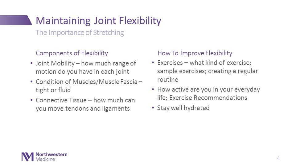 Thank You Maintaining Joint Flexibility