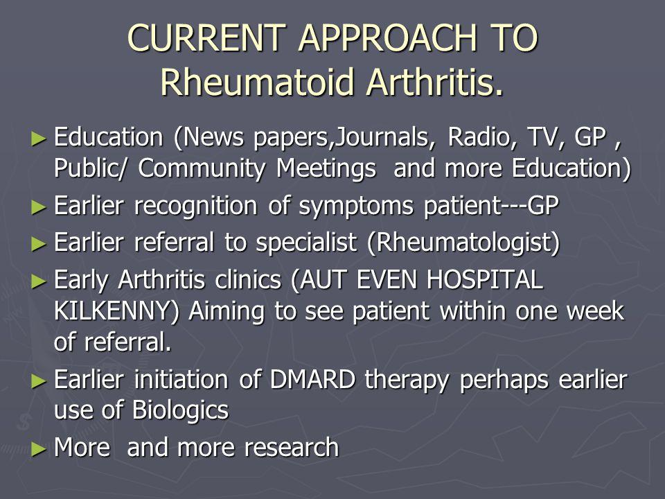CURRENT APPROACH TO Rheumatoid Arthritis.
