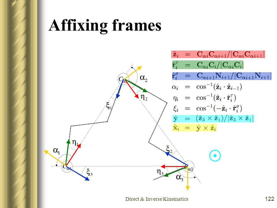 Direct & Inverse Kinematics122 Affixing frames