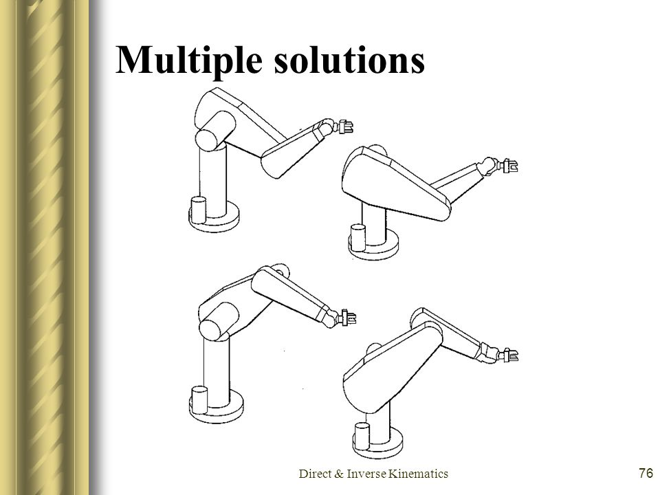 Direct & Inverse Kinematics76 Multiple solutions