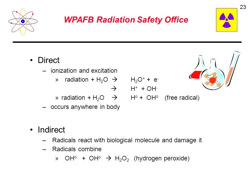 WPAFB Radiation Safety Office 22 Total Effective Dose Equivalent (TEDE) - the sum of the deep-dose equivalent (for external exposures) and the committ