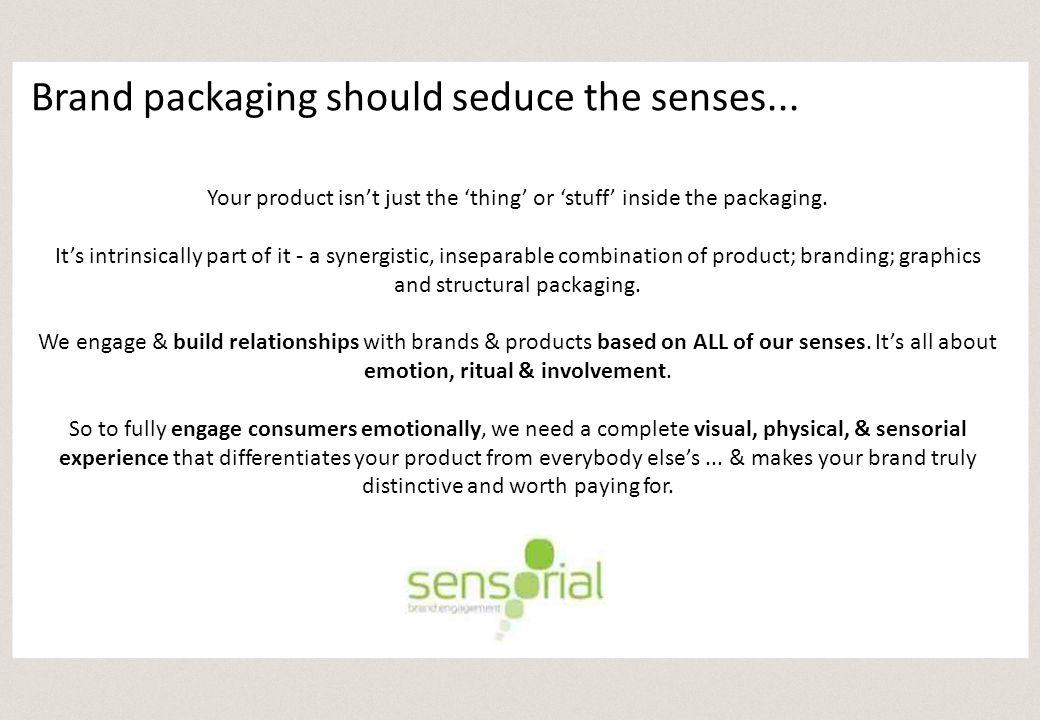Pre-consumption ritual & sensorial engagement...Slide bar out of wrapper...