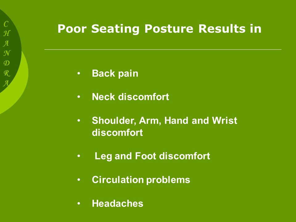 SEATING POSTURE CHANDRACHANDRA Why How