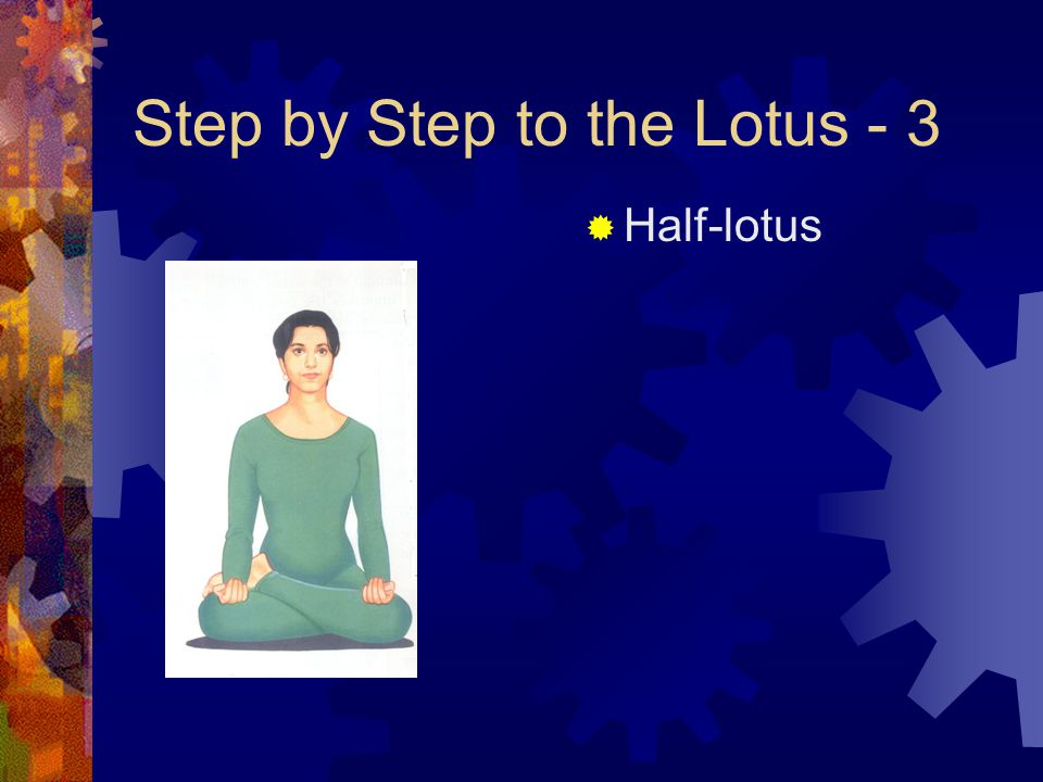 Step by Step to the Lotus - 3  Half-lotus
