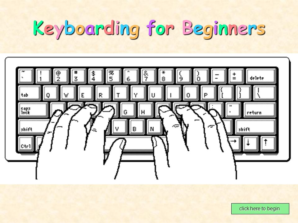 Keyboarding for BeginnersKeyboarding for BeginnersKeyboarding for BeginnersKeyboarding for Beginners click here to begin click here to begin
