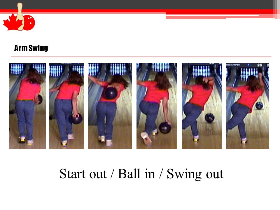 Arm Swing Start out / Ball in / Swing out