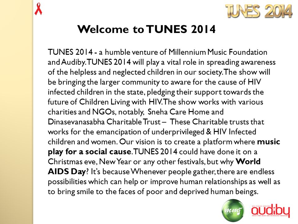 TUNES 2014 - a humble venture of Millennium Music Foundation and Audiby.