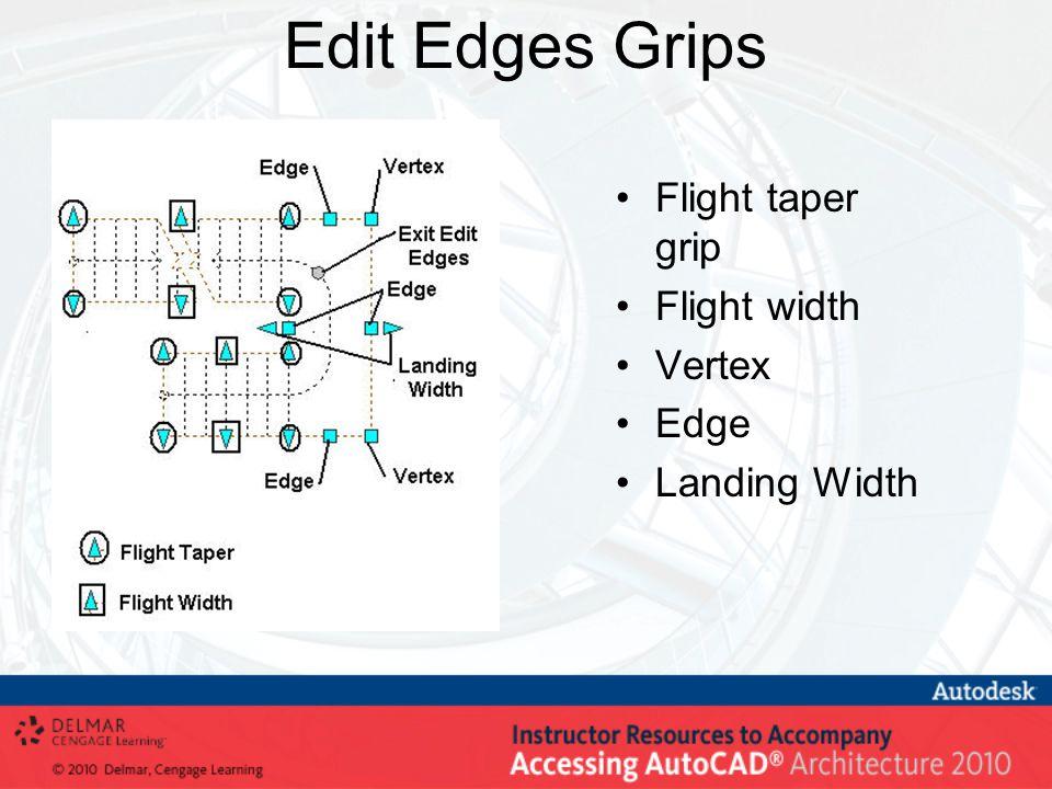 Edit Edges Grips Flight taper grip Flight width Vertex Edge Landing Width
