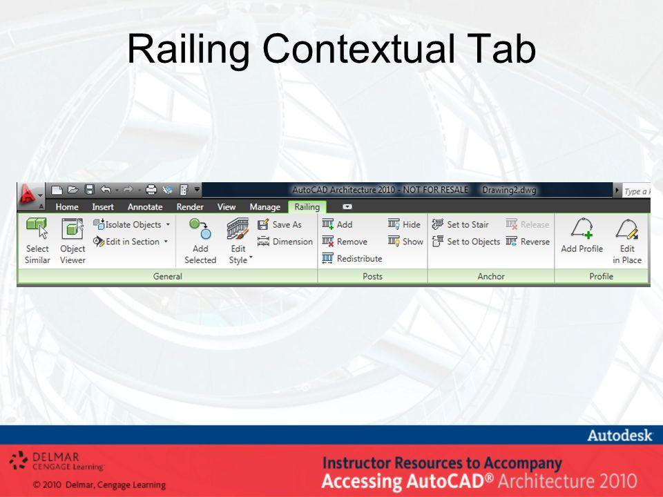 Railing Contextual Tab