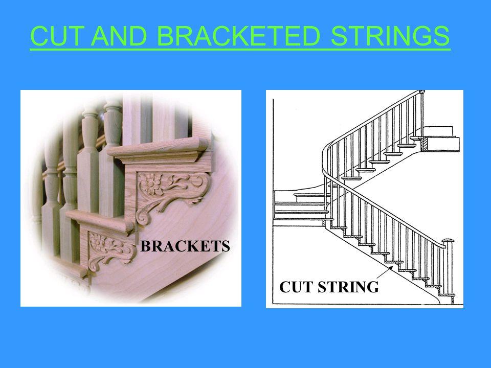 CUT & BRACKETED STRINGS.1.STRING 2. RISER 3. TREAD 4.BRACKET 5.
