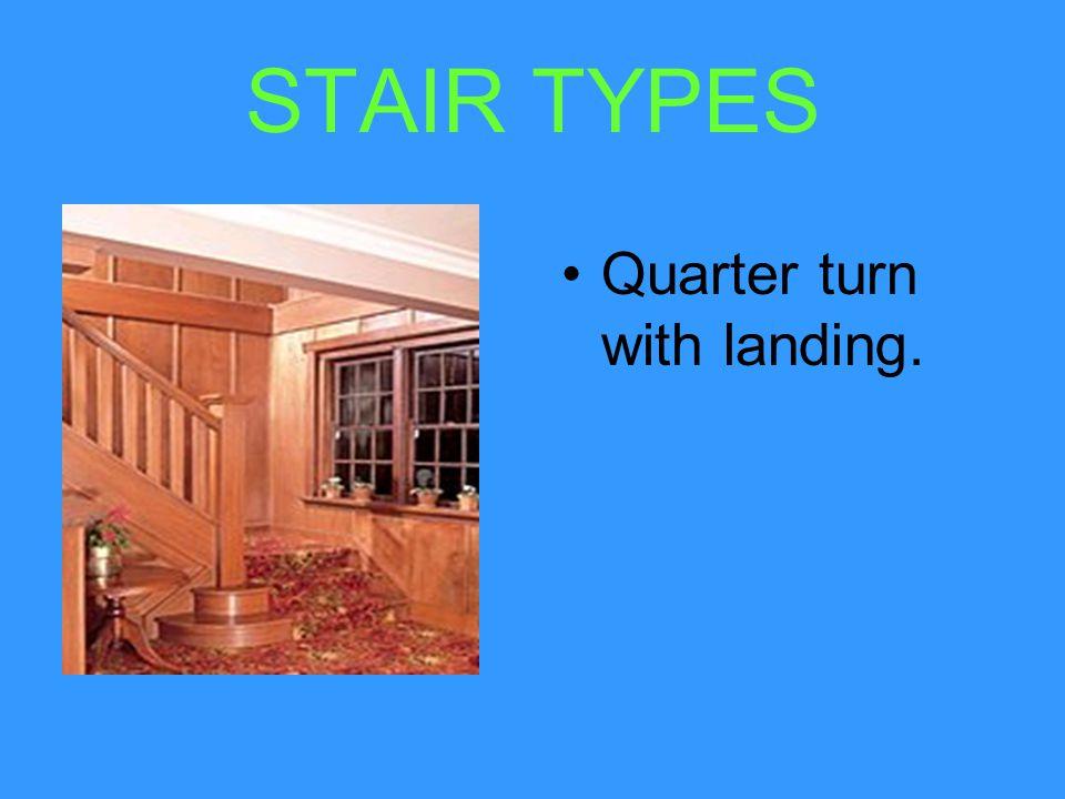 STAIR TYPES Half turn with landing.