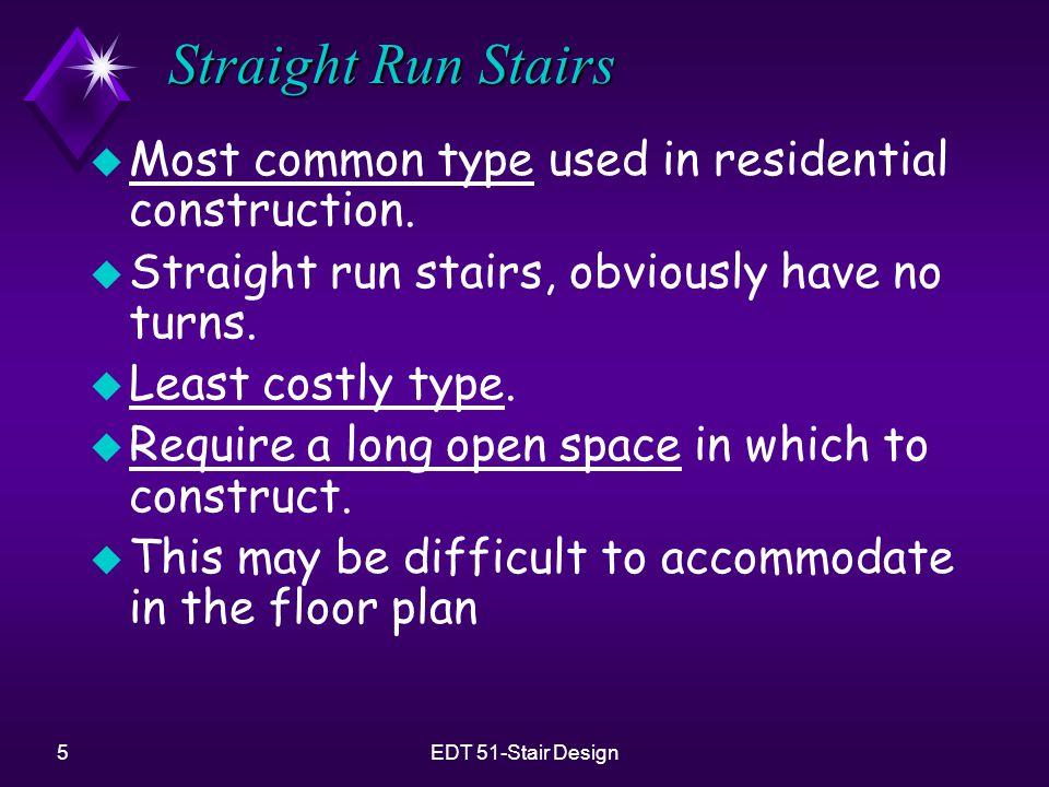 6EDT 51-Stair Design Straight Run Stairs