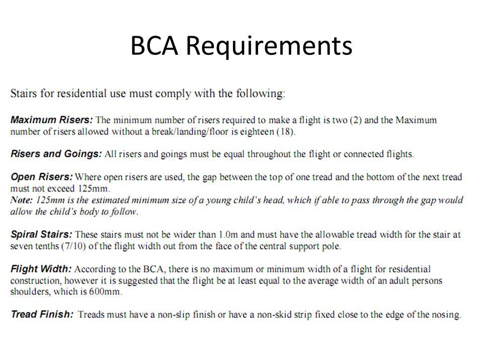 BCA Requirements