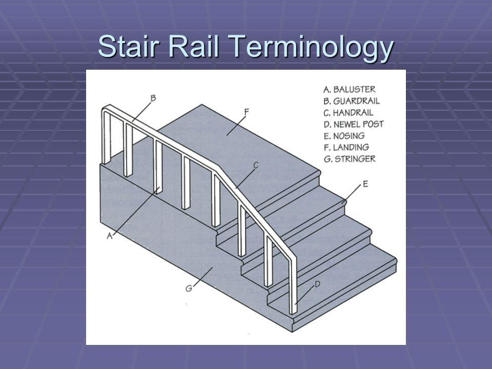 Stair Rail Terminology