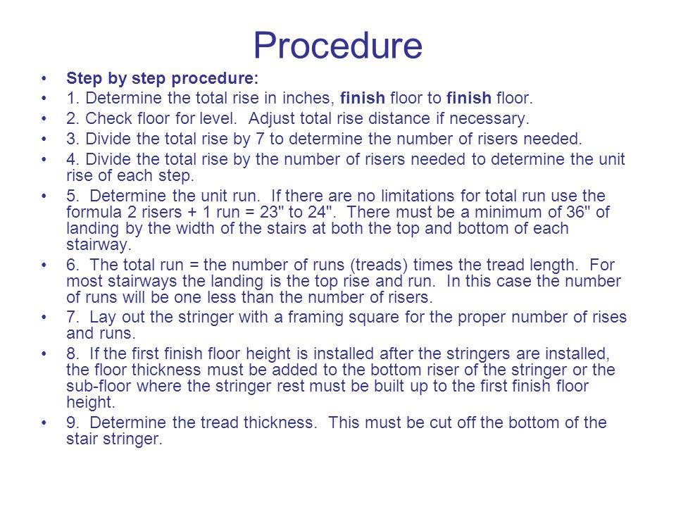 Procedure Step by step procedure: 1.