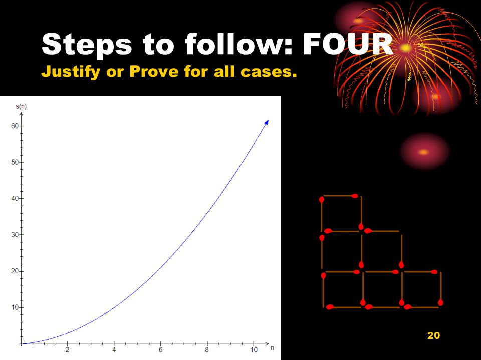 20 Steps to follow: FOUR Justify or Prove for all cases.