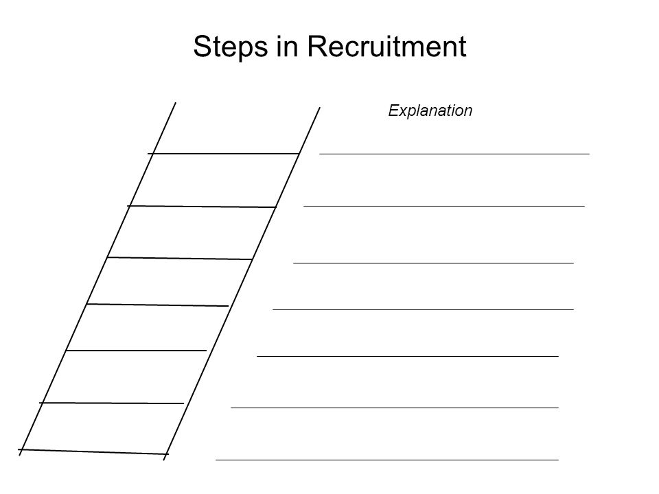 Steps in Recruitment Explanation