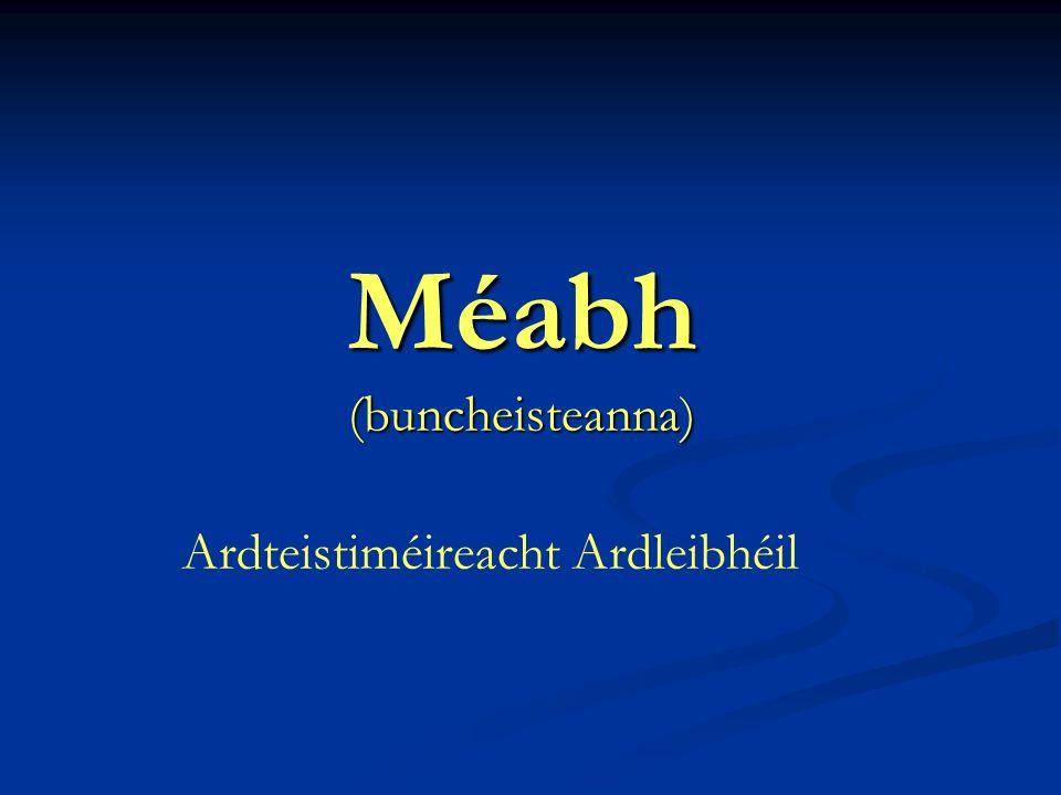 Méabh (buncheisteanna) Ardteistiméireacht Ardleibhéil