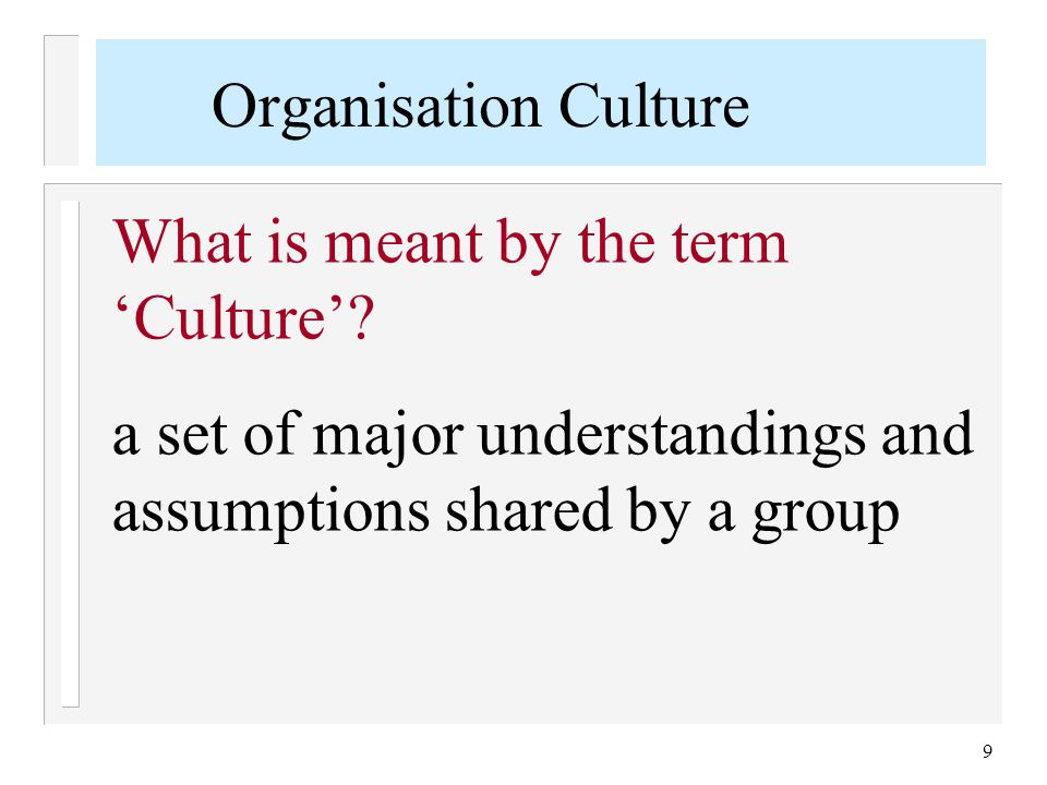 Some Aspects of Culture (L.Aiman-Smith 2004) n Historical: Culture is social heritage, or tradition, that is passed on to future generations n Behavioural: Culture is shared, learned human behaviour, a way of life n Normative: Culture is ideals, values, or rules for living 10