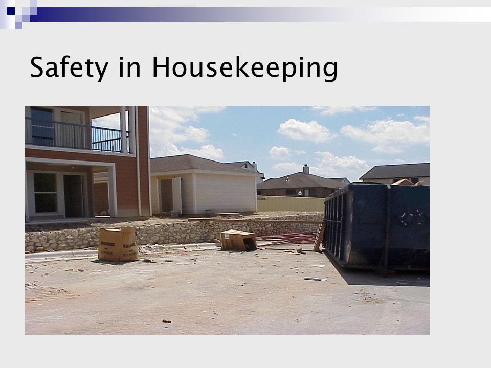 Safety in Housekeeping