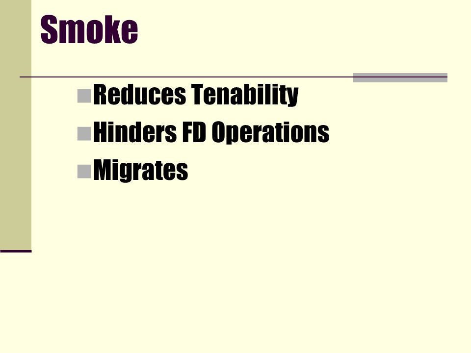 Smoke Reduces Tenability Hinders FD Operations Migrates