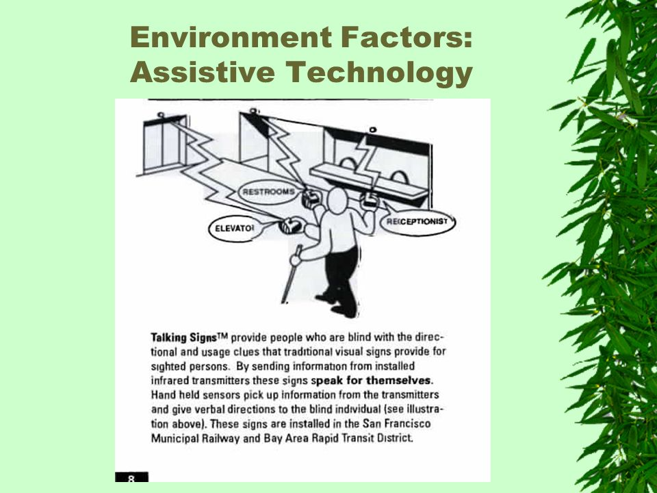 Environment Factors: Assistive Technology