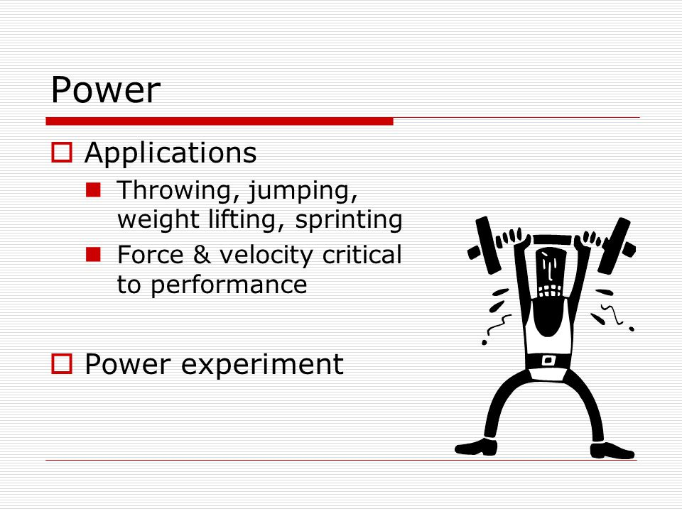 Energy  …the capacity to do work…  how long we can sustain the output of power  how much work we can do  Mechanical energy  mechanical work Two forms  Kinetic energy  Potential energy Strain energy