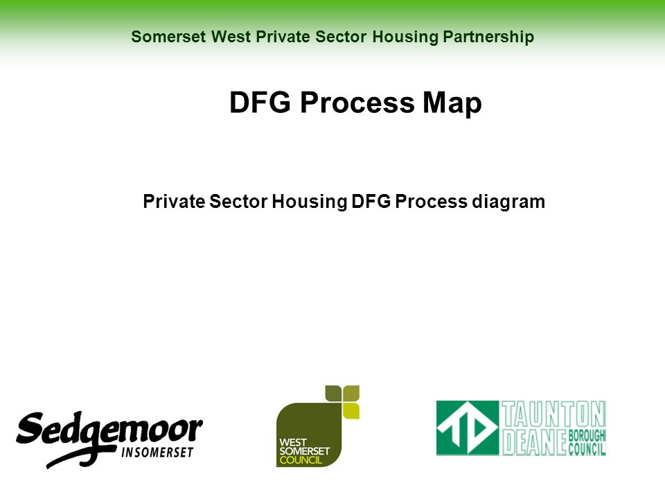 Somerset West Private Sector Housing Partnership DFG Process Map Private Sector Housing DFG Process diagram