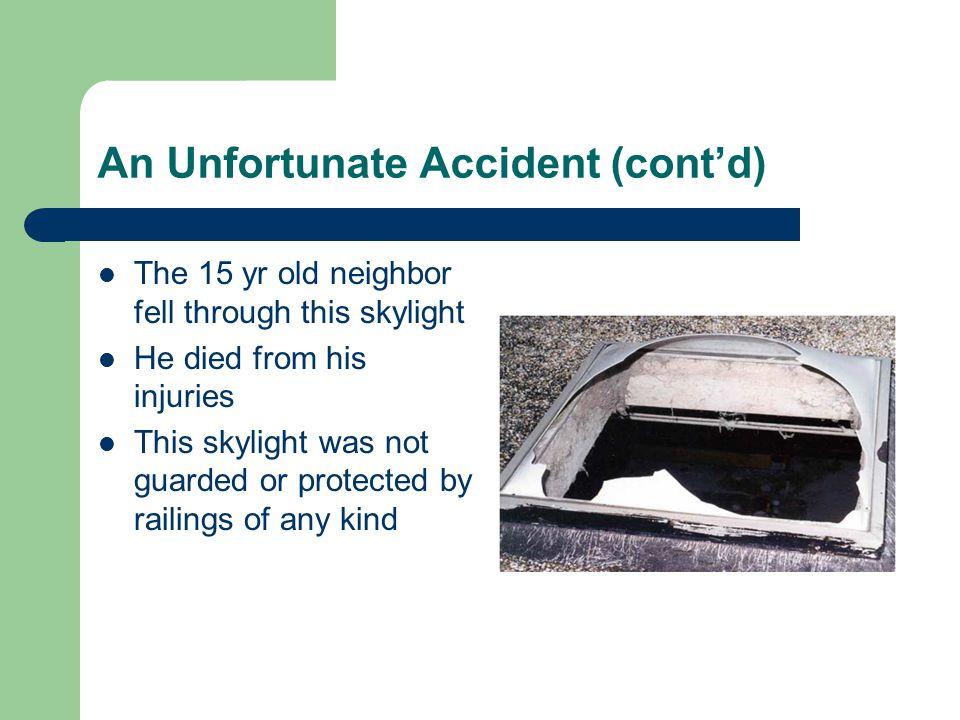 An Unfortunate Accident (cont'd)