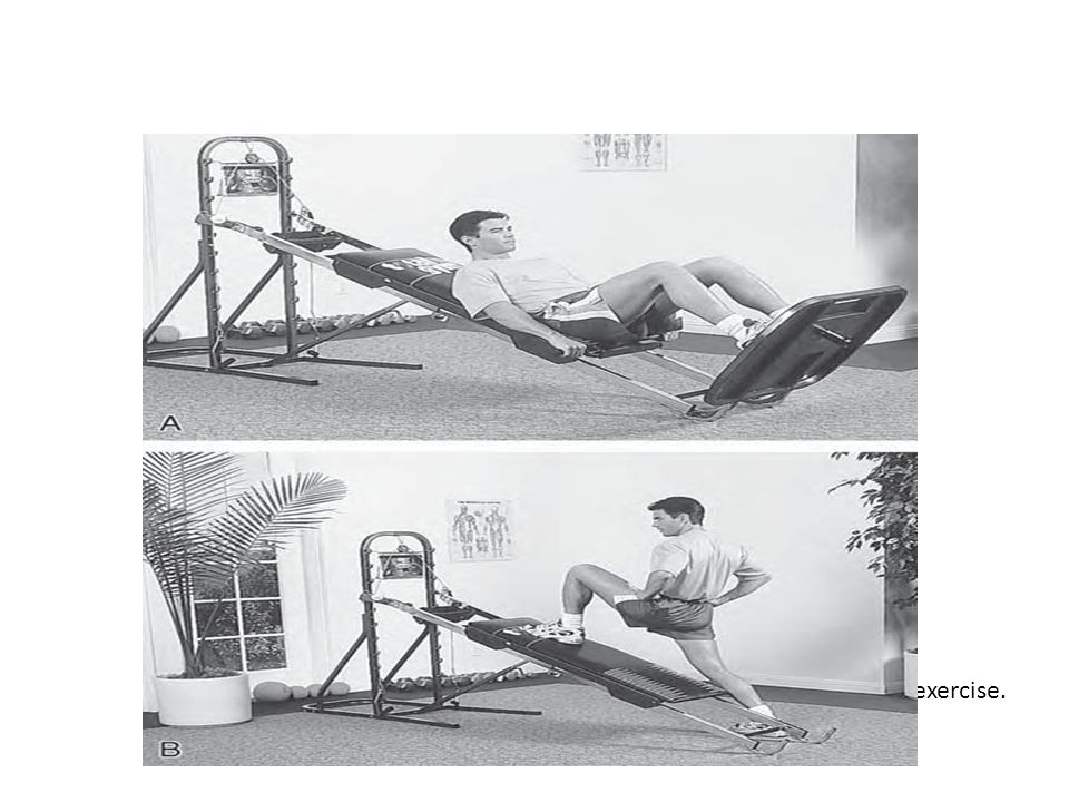 Slide Boards and Fitter Shifting the body weight from side to side during a more functional activity on either a slide board (Figure 13) or a Fitter (Figure 14) helps to reestablish dynamic control as well improving cardiorespiratory fitness.