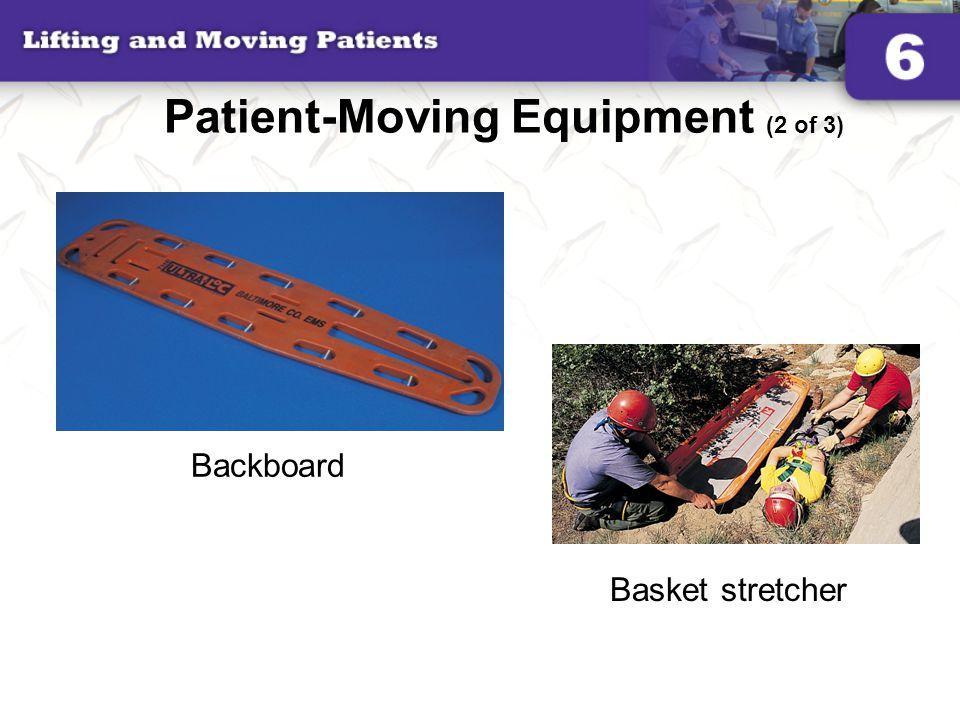 Patient-Moving Equipment (2 of 3) Backboard Basket stretcher