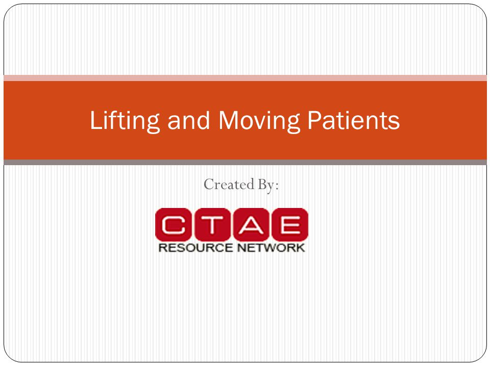 Created By: Lifting and Moving Patients