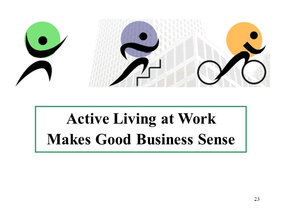 23 Active Living at Work Makes Good Business Sense