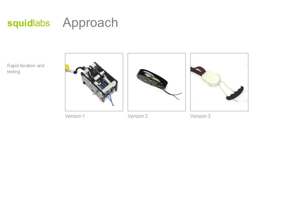 Multimodal use enabled by device design.Different muscle groups can be employed to avoid fatigue.