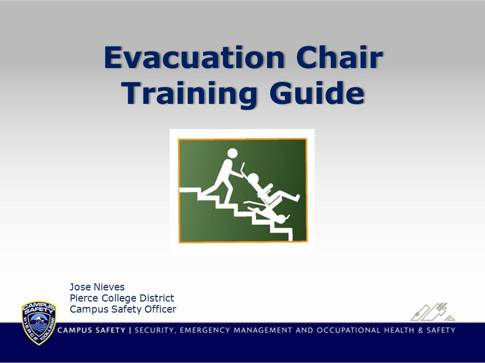 What is an Evacuation Chair.