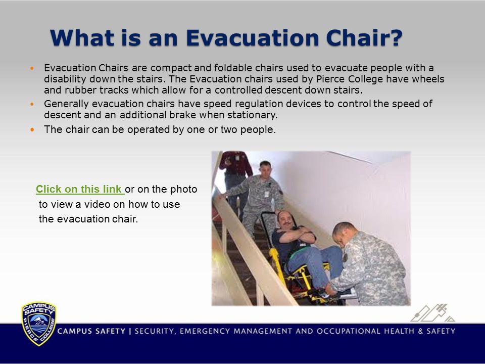 Puyallup Campus Evacuation Chair Locations