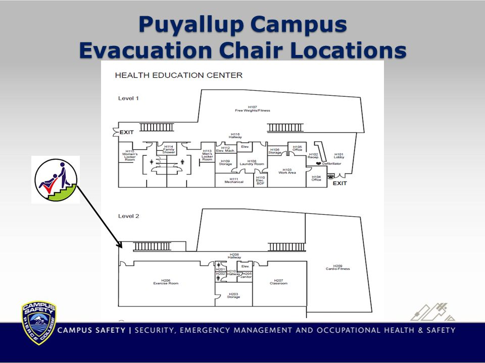Fort Steilacoom Campus Evacuation Chair Locations