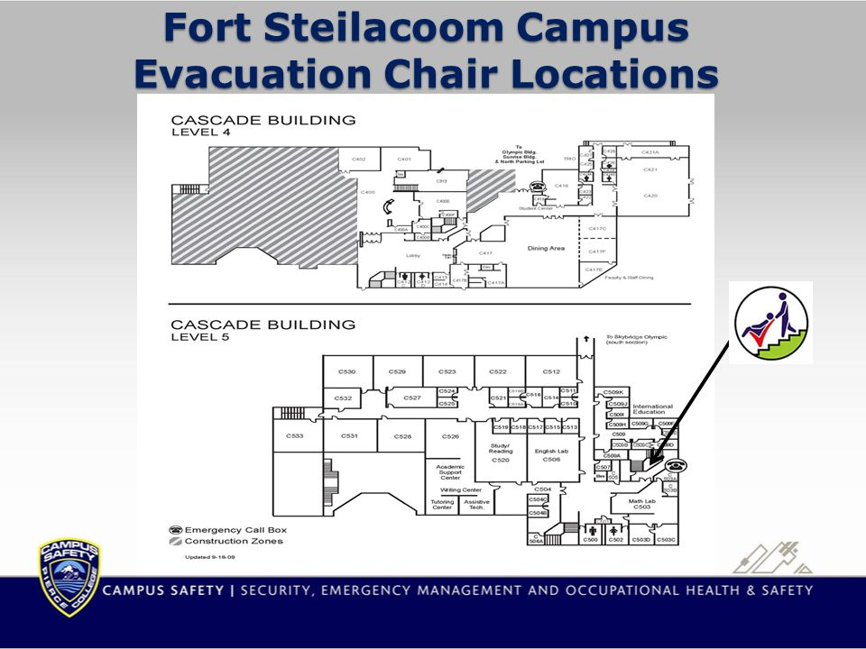 Fort Steilacoom Campus Evacuation Chair Locations