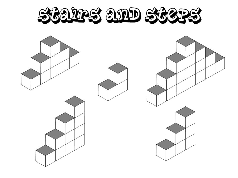 Teacher Notes This Stairs and Steps investigation is concerned with: 1.Deriving a formula for the sum of the first n odd numbers.