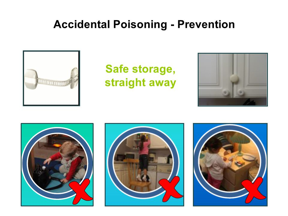 Accidental Poisoning - Prevention Safe storage, straight away