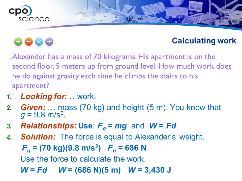 Alexander has a mass of 70 kilograms.
