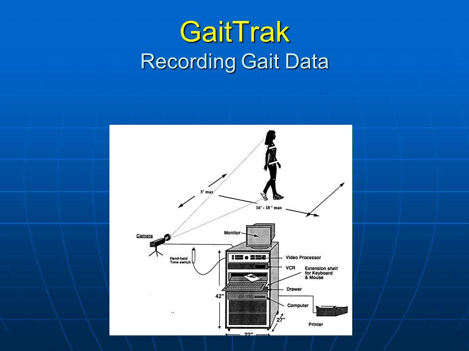 GaitTrak Recording Gait Data