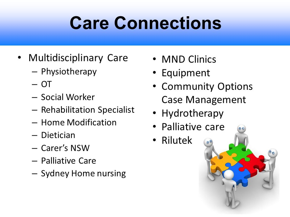 Care Connections Multidisciplinary Care – Physiotherapy – OT – Social Worker – Rehabilitation Specialist – Home Modification – Dietician – Carer's NSW
