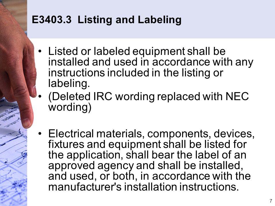 28 E3609.7.1 Bonding Metal Piping (con't)