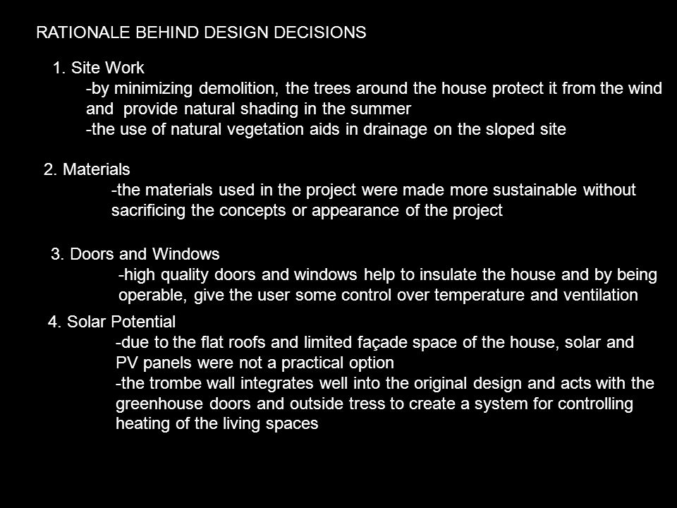 RATIONALE BEHIND DESIGN DECISIONS 1.