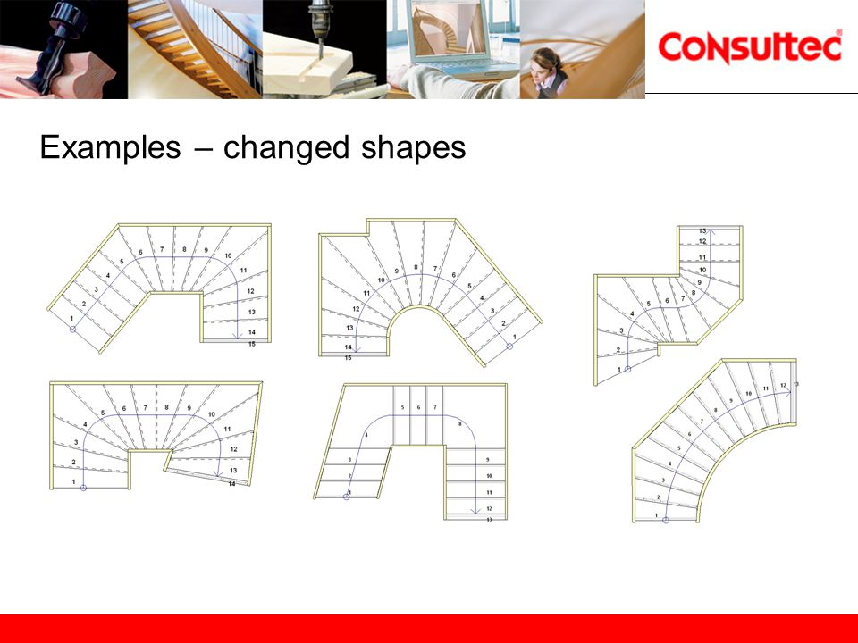 Standard features in StairCon Standardfunktioner i StairCon Free design – Not type driven