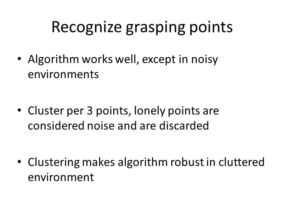 Recognize grasping points