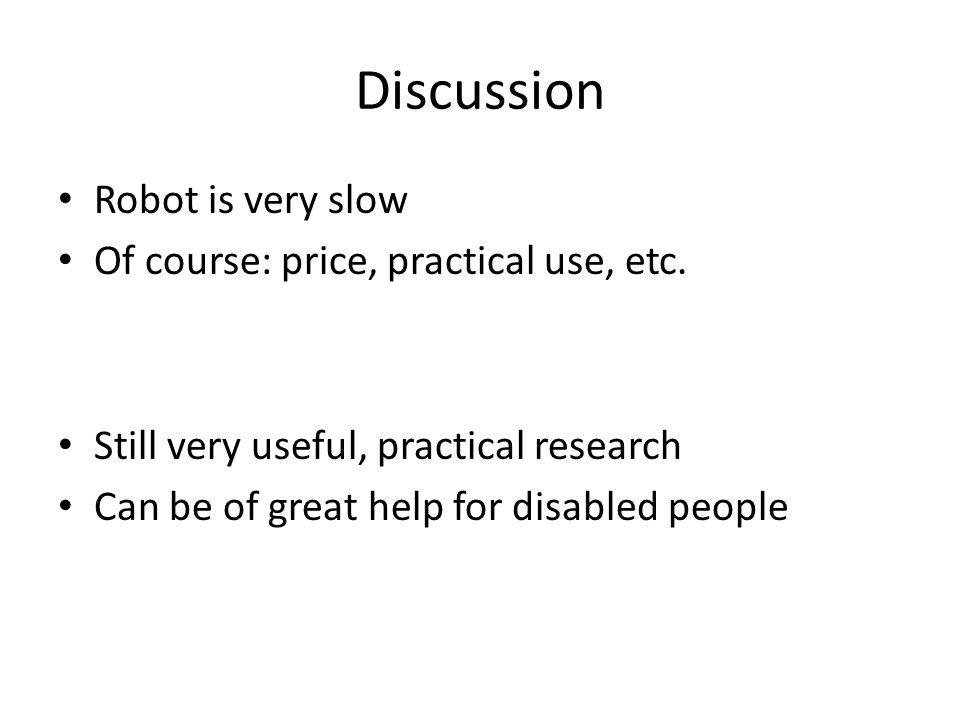 Discussion Robot is very slow Of course: price, practical use, etc.