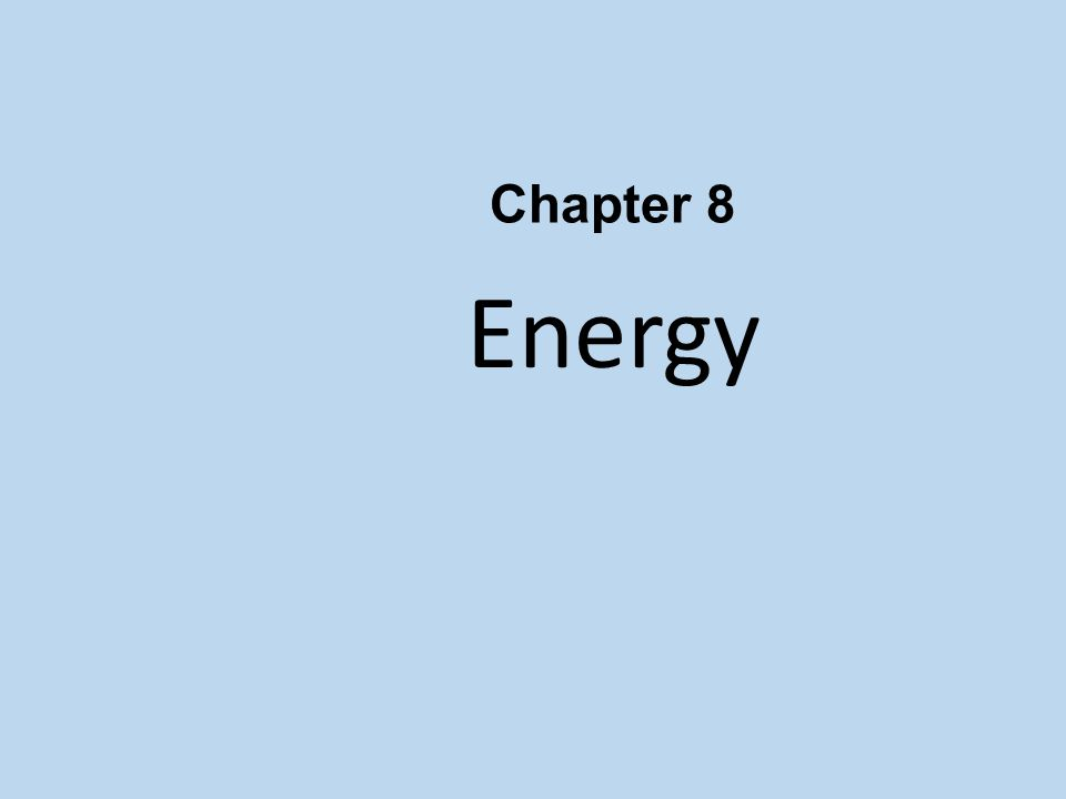 Conservation of Energy Energy cannot be created or destroyed; it may be transformed from one form into another, but the total amount of energy never changes.