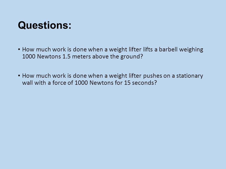 A 20 Newton weight is lifted 4 meters.The change in potential energy of the weight in Newton.